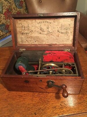 Early 1800s England Medical Magneto Electric Machine- Quackery Medicine Shock