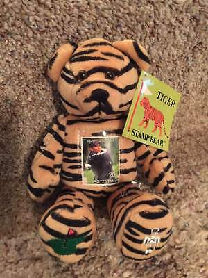 Tiger Woods Collectible Teddy Bear and USPS Commemorative Stamp 2000
