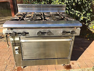 commercial gas oven With 6 Burner Cooktop