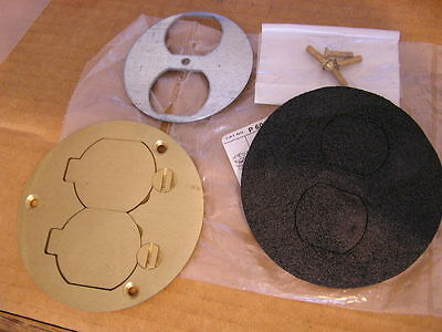 NEW Thomas & Betts  P60-DS 68600 BRASS ROUND DUPLEX Receptacle Coverassembly