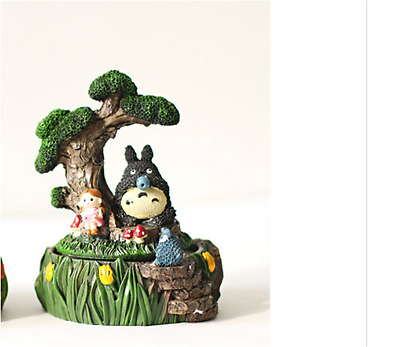 Resin Totoro Rotate Music Box - ''Castle in the Sky'' Ideal for Gift ~ 2 Designs