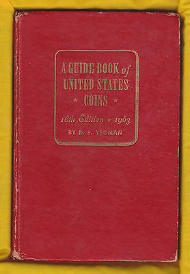 A GUIDE BOOK OF U.S. COINS - YEOMAN -  ERROR RED BOOK - 16th EDITION - 1963