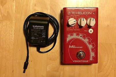 TC Helicon Mic Mechanic Reverb EQ Pitch Correction Vocal Effects Preamp Pedal