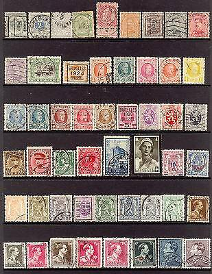 A Collection of 100+ Early Stamps from Belgium