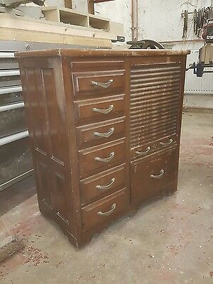 Antique vintage office drawers