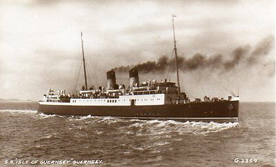 VINTAGE postcard of SHIP S.S. ISLE OF GUERNSEY