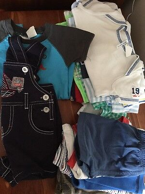 Bulk Lot 20 Baby Boy Summer Shorts Tops Overalls Size 0-3m 000 Some Brand Guess