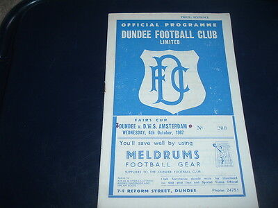 Dundee v DWS Amsterdam Oct 1967 Inter Cities Fairs Cup