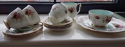 Vintage Royal adderley floral part tea set