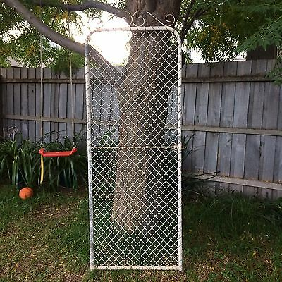 Vintage Galvanised Tall Garden Gate