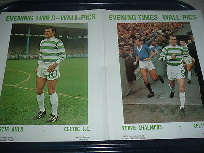 Glasgow Evening Times double wall pic Celtic Bertie Auld / Steve Chalmers