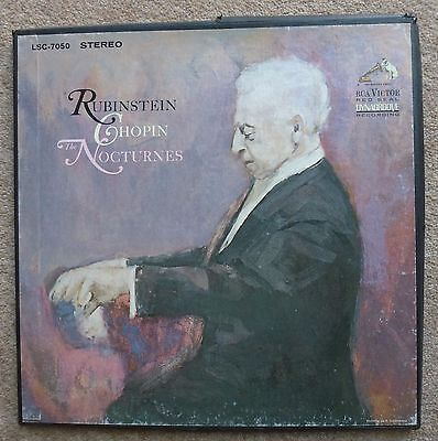 Rubinstein Chopin Nocturnes on RCA Victor Red Seal. LSC-7050 Stereo.