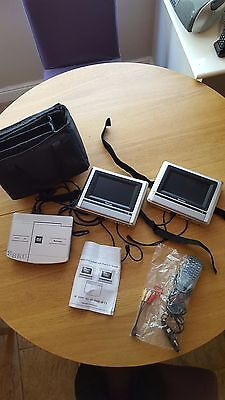 Venturer PVS19261 Portable In Car DVD Player With Dual Windscreen LCD Displays