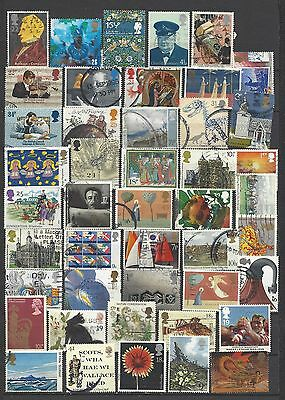 British stamps collection post decimal old stamps gb good mix all different !!