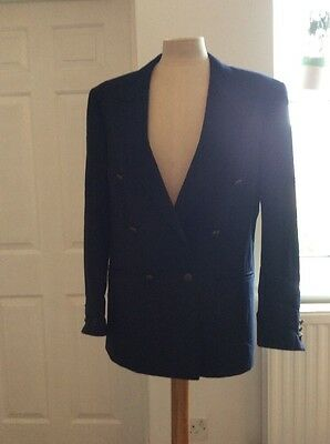 Vintage Women's Double Breasted Navy Blazer Size 10