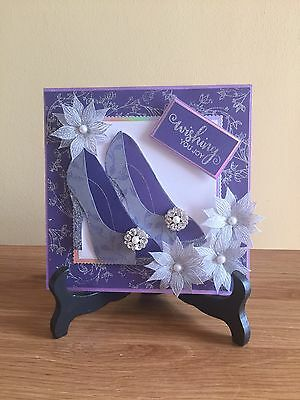 Handmade Card Topper Glitzy Shoes