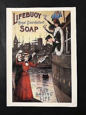 Vintage Art Postcard LIFEBUOY SOAP Advertisment Repro issued by Mumbles Railway