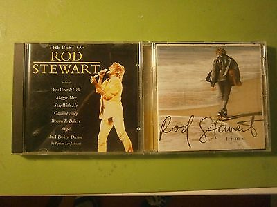 2 X Rod Stewart CD's The Best Of &Time