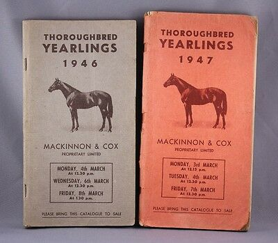 Thoroughbred Yearlings Books 1946 & 1947 Australian Horse Racing Catalogues x2