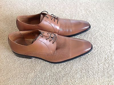 Brand New Florsheim Brown Tan Leather Men's Shoes Size 42 Euro/UK 8/ US 9