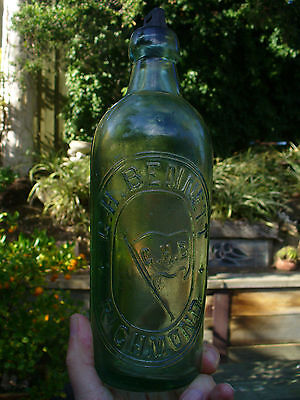 Vintage 26 Oz Riley Bottle  G.h Bennett Richmond