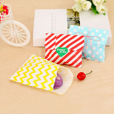 25pcs Dot Candy Paper Bags For Sweet Favour Buffet Wedding Cake Gift Shop
