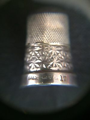 C.r&co Hallmarked Sterling Silver Stamped 17 Thimble C R & Co C. R & Co