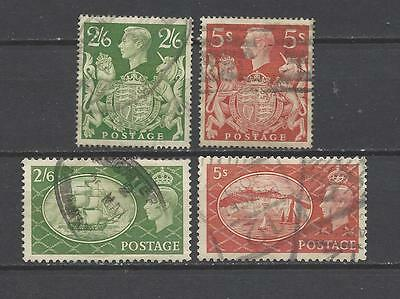 British stamps Kings of old George VI high value quad of high value stamps gb