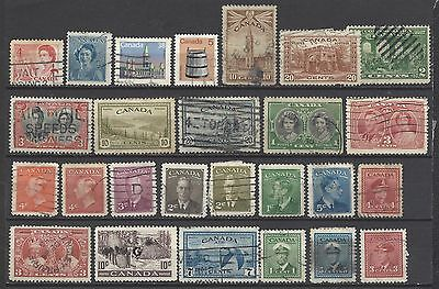 Canada stamps 1920's onwards defins and commemoratives old stamps collection