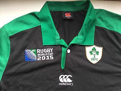 Ireland RFU adult rugby shirt. World Cup 2015. Long sleeves. Size large.