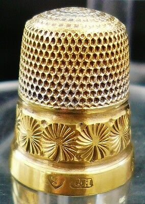 9ct Gold Thimble, Charles Horner, Chester 1909