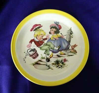 Rare Plate From Barratts Of Staffordshire...jack & Jill..ex Cond.