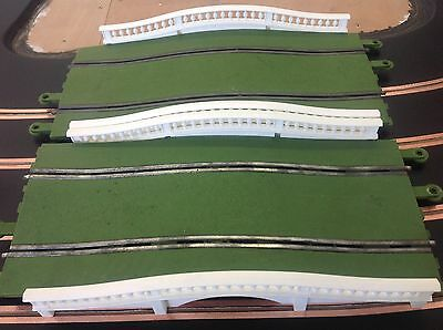 Scalextric C160 GREEN Hump back Bridges X2. Good used condition,ideal slot rally