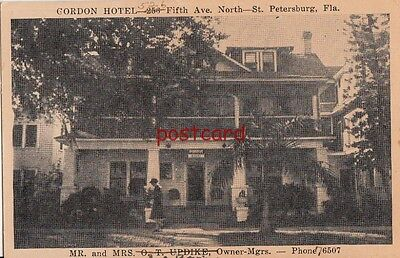 Gordon Hotel, St. Petersburg FL, Mr. & Mrs. Updike, Joe Bovin, Owners - Managers