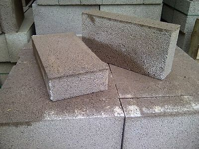 One pack of 72 (7.2m2)100mm solid dense concrete building blocks