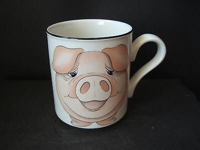 Arthur Wood Back & Front Mug Pig Piggy