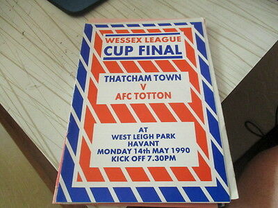 Thatcham  Town  V  Afc  Totton  1989-90  Wessex  League Cup Final