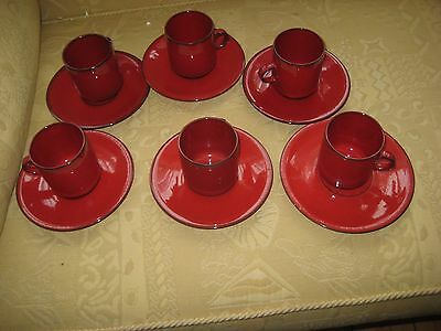 Villeroy And Boch Granada 6 X Coffee Cups And Saucers