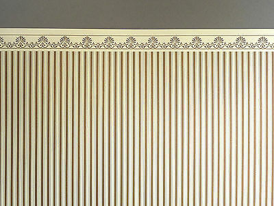 Tapete Majestic creme gold Puppenstube 1:12  Teppich Wand