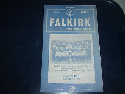 Falkirk v Maccabi Oct 1957 friendly