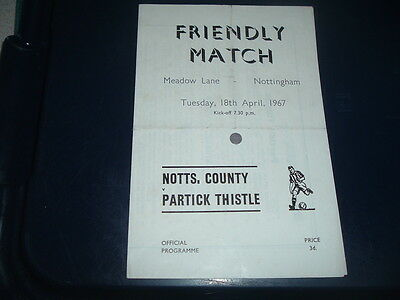 Notts County v Partick Thistle April 1967 friendly