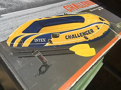 INTEX Challenger Two-Person Boat With Two Oars