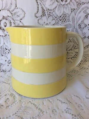 T G Green Original Cornishware Yellow & White Jug  Restyled by Judith Onions