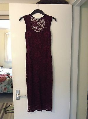 New Look Red Lace Dress Size 8