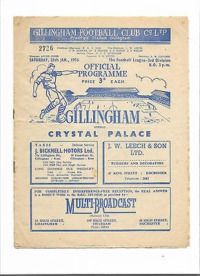 1955/56 Division 3 South - GILLINGHAM v. CRYSTAL PALACE