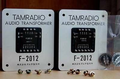 Pair Tamura Biltrite F-2012 output transformer 100W 180mAx2 for 845, 211, 300B