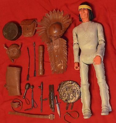 Vintage Marx Best Of The West Geronimo Figure W/accessories Johnny West