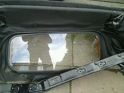 mazda mx5 glass back window and roof frame