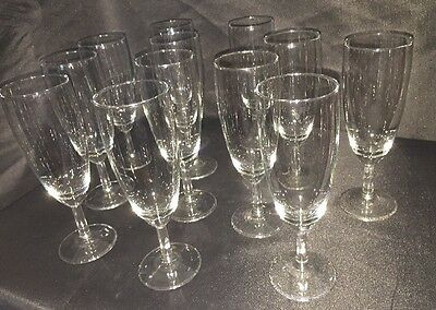 Set Of 12 Vintage Champagne Wine Glasses Party Event Celebration Wedding Luxury