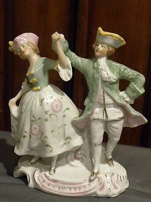 "Vintage German ( STAMPED ) and ( #'s ) Dancing Couple Porcelain Figurine 6"" Tall"
